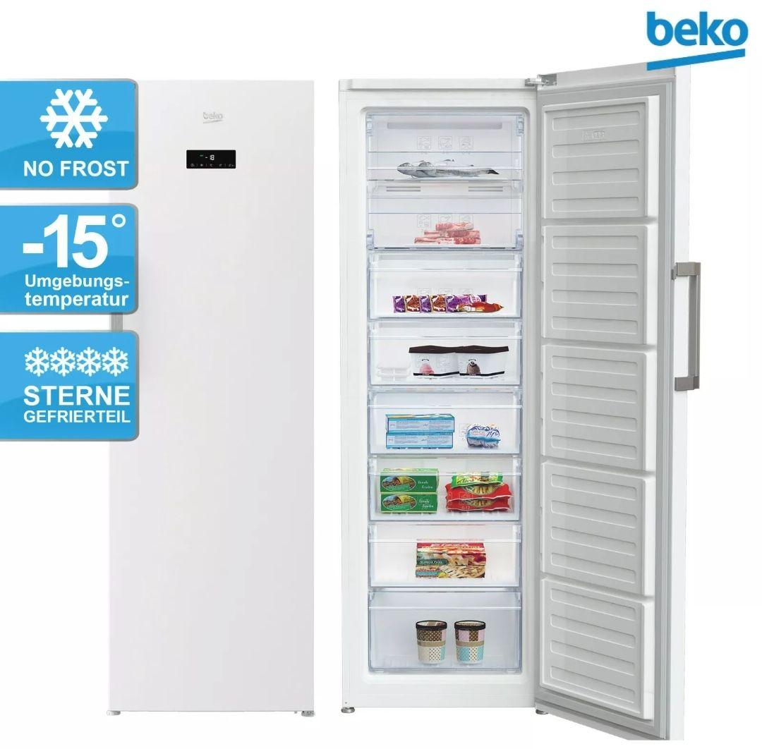 Beko RFNE312E43WN 282l Gefrierschrank (NoFrost, Schnellgefrieren, manueller Eiswürfelspender, A++ bzw. E)