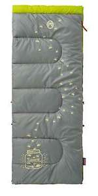 Coleman Kinderschlafsack »Glow in the dark« grün Schlafsack Deckenschlafsack / 8 °C Komforttemperatur / 1.300 g