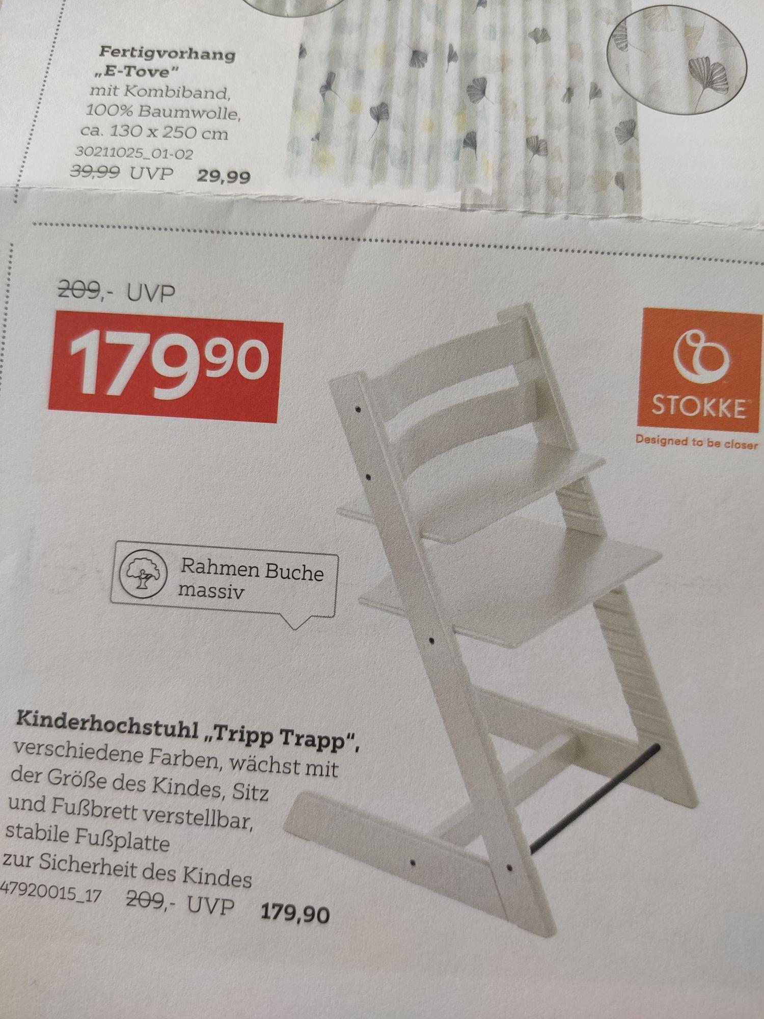 [XXXLutz] Stokke Tripp Trapp alle Farben (effektiv 168,01€ durch Shoop Cashback)