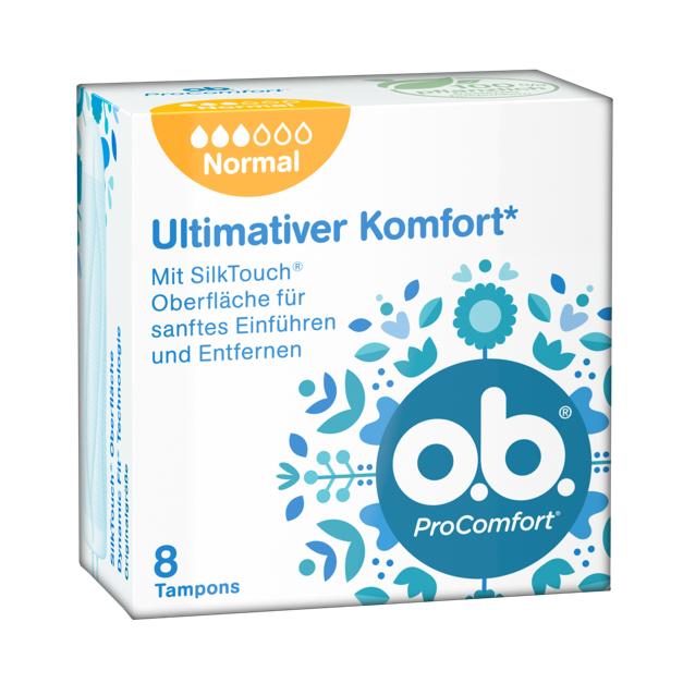 o.b. ProComfort Normal mit 8 Tampons Gratis Bestellen