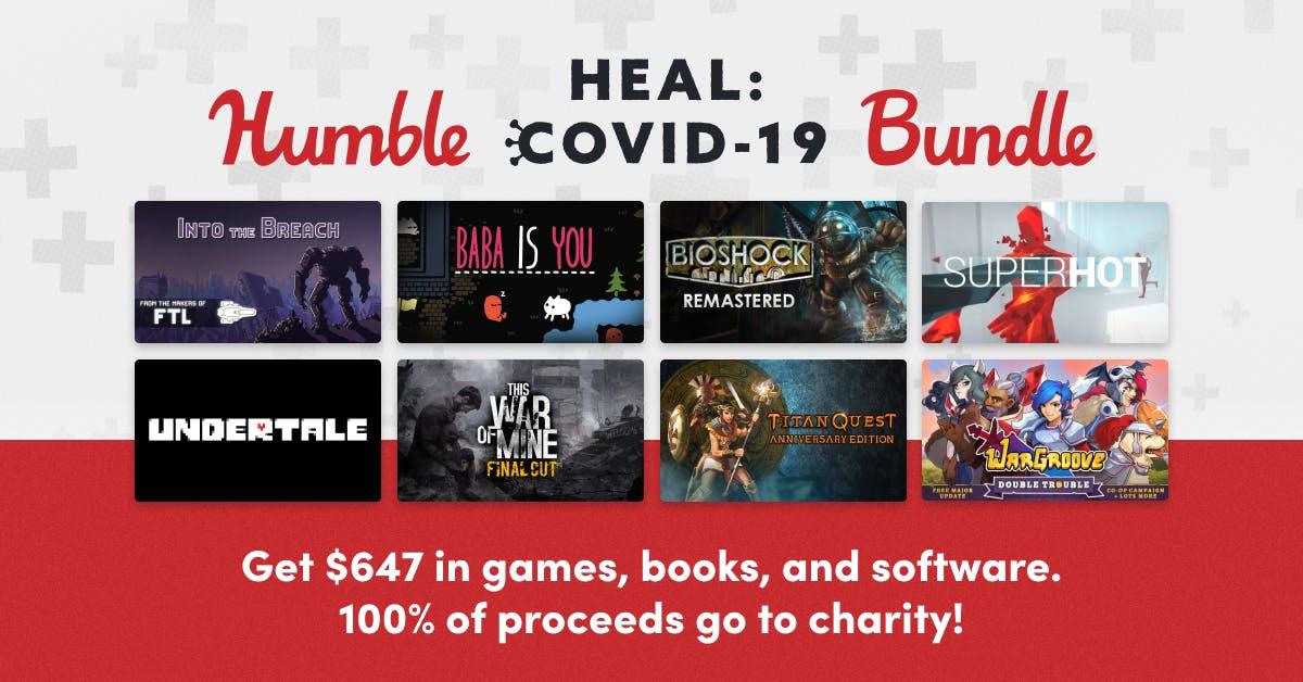 HUMBLE HEAL: COVID-19 BUNDLE (Steam) für 16,63€ (100% vom Kauf gehen an Charity Organisation)