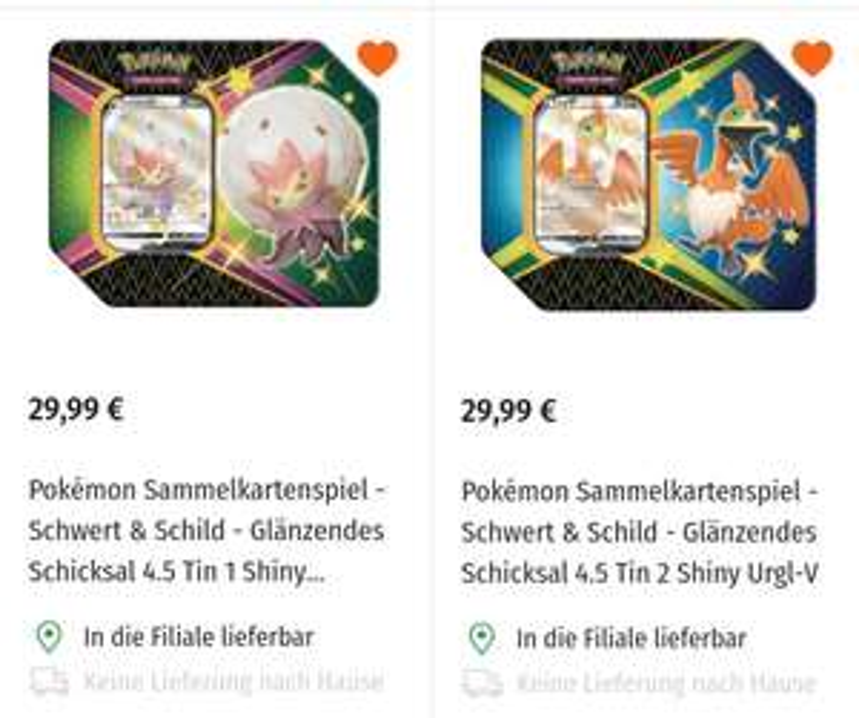 Pokémon Glänzendes Schicksal Tin
