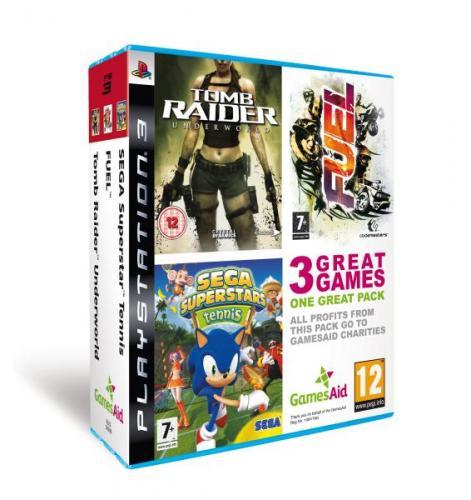 (UK) Playstation 3 Triple Pack - Tomb Raider Underworld, Fuel & Sega Superstar Tennis [PS3] für umgerechnet ca. 10.30€ @ Thehut