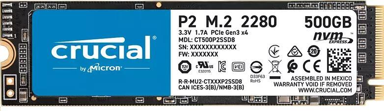 Crucial P2 500GB NVMe M.2 SSD | 39,99€ bei Abholung [MediaMarkt & Saturn]
