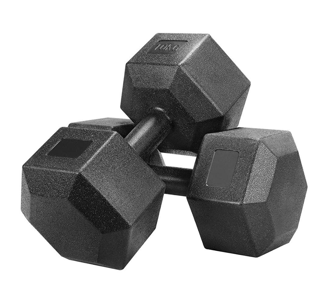 Hexagon Kurzhanteln 2x10kg (2€/kg)/2x 7,5kg [Amazon/Otto]