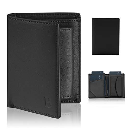 [Amazon] Handliches Portemonnaie mit RFID Schutz und Rausziehlaschen im Hochformat