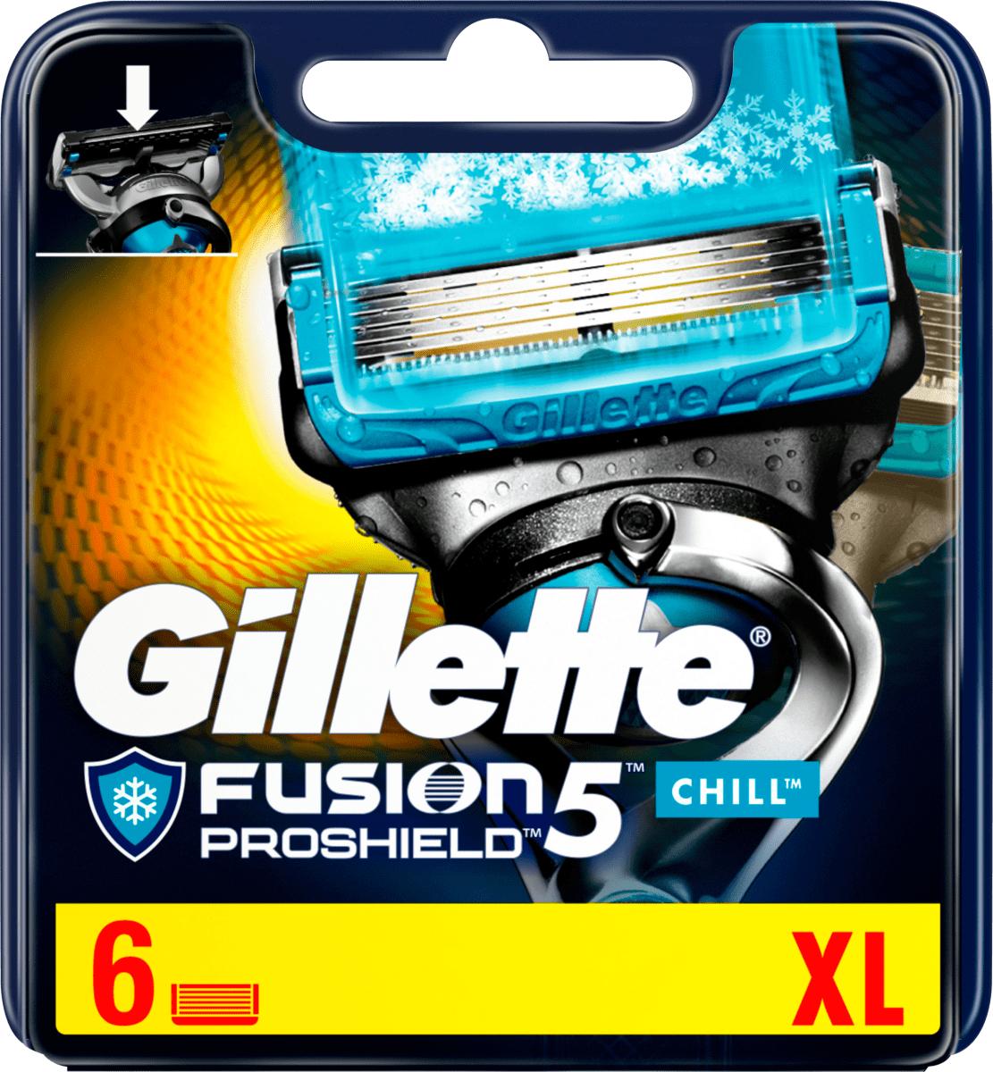 [DM offline Ausverkauf] Gillette ProShield Chill Klingen, 6 St mit DM App und Payback für effektiv 9,58€