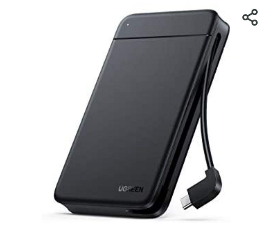 [Amazon Prime] UGREEN Festplattengehäuse USB C für externe Festplatten bis zu 5Gbps Gehäuse für 2,5 Zoll SSD und HDD