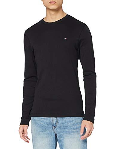 Tommy Jeans DM0DM04409 Herren Original Rib Langarmshirt schwarz Amazon Prime