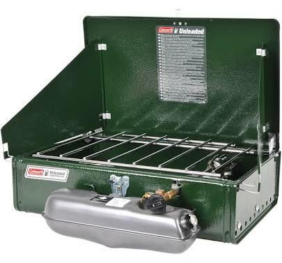 Coleman Unleaded 2-Flammkocher 424, Benzinkocher, 4100 Watt, 4.45 kg L46 x B29 x H13.5 cm [Obelink]