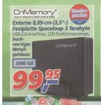 Externe-Festplatte CnMemory Spaceloop 3 TB USB2 bei Real (Bundesweit) für 99,95€ ab Montag 11.03 bis 16.03