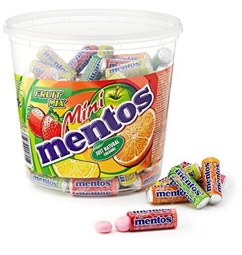 Amazon Prime: Mentos im Fruchtmix mit 120 Mini Rollen im Eimer, mit 15 % Sparabo für 9.09€, ca.1,2 Kilo Gesamtgewicht