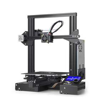 Creality Ender 3 3D-Drucker (Bausatz, 220x250x220mm Druckfläche, für 1.75mm Filament, Display, USB, SD, 440x465x410mm)