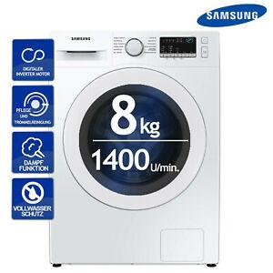 Samsung Waschmaschine 8kg 1400U/min. Dampffunktion Inverter Motor Schontrommel Waschvollautomat