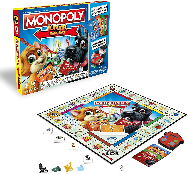 [Amazon UK] Brettspiele / Spielzeug Sammeldeal (36), z.B. Hasbro Gaming E1842100 - Monopoly Junior Banking (deutsche Versionen)