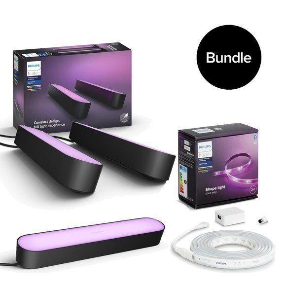 Philips Hue Play Bundle Angebote - z. B. 3x Hue Play + Netzteil + Hue Lightstrip 2m 168€ | oder 3x Play + Netzteil 114€ [2.8% Shoop möglich]