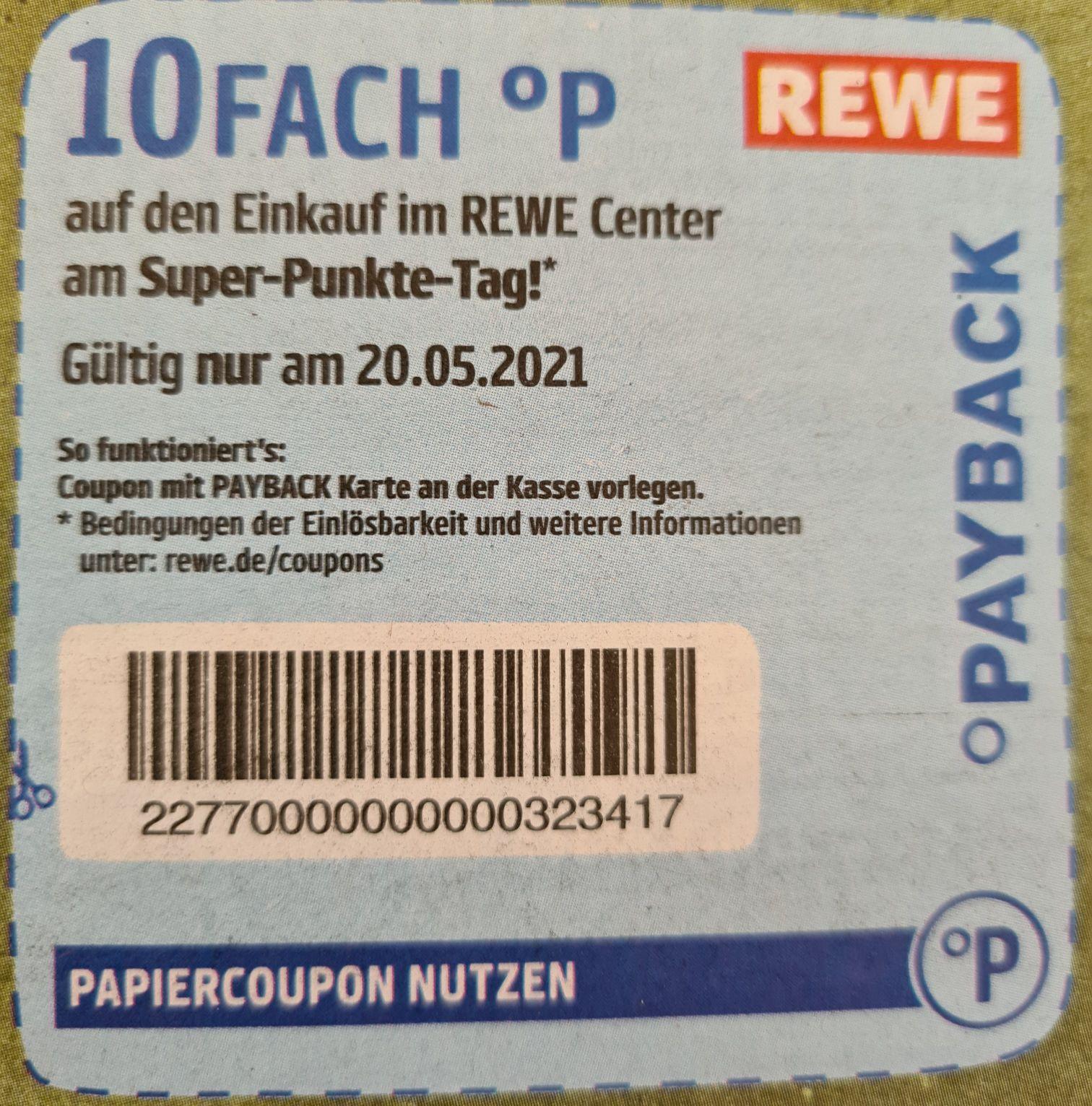 """[Payback Rewe] 10fach Punkte am """"Super-Punkte-Tag"""" bei Rewe am 20.05.2021"""