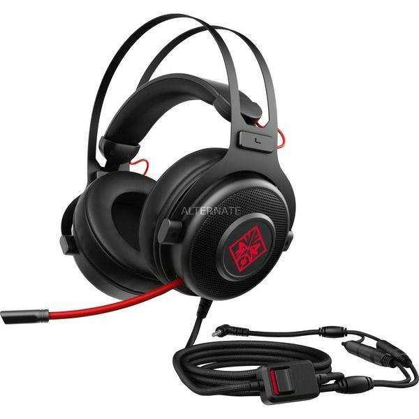 HP OMEN 800 Gaming-Headset, schwarz/rot, Mikrofon, Kabelgebunden und ein weiteres [Alternate]
