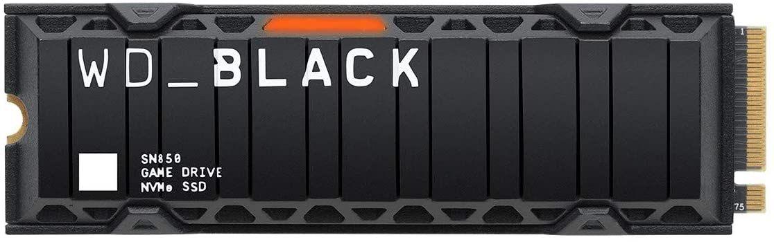 WD_BLACK SN850 2 TB NVMe Interne Gaming-SSD 1200 TBWr; PCIe Gen4-Technologie, Lesegeschwindigkeiten bis zu 7.000MB/Sek., M.2 2280