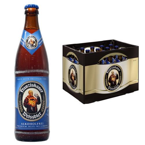 Franziskaner Weißbier, verschiedene Sorten, der Kasten für 10,99 Euro [Rewe, Rewe Center - regional]