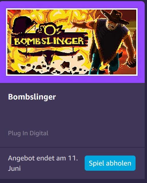 Bombslinger Gratis bei Amazon Prime Gaming (PC)