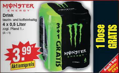 [Netto-Angebote] 4 x Monster Energy für 3,99€ zzgl. Pfand oder 3 kg Orangen für 1,99€ und noch viel mehr [noDog]