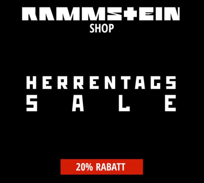 RAMMSTEIN Shop 20% auf Herrenartikel