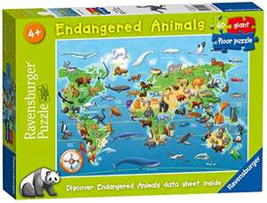 "[Amazon UK] Ravensburger ""Endangered Animals"" Großes Bodenpuzzle"