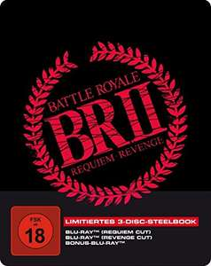 Battle Royale II - 3 Disc Limited Collector's Steelbook oder Mediabook (Blu Ray) für 11,97€ (Amazon Prime)