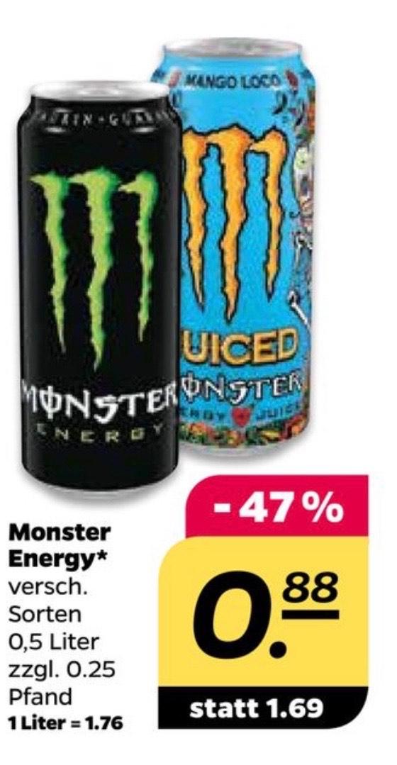 [Netto] Monster Energy 0,5l für 0,88€ zzgl. Pfand
