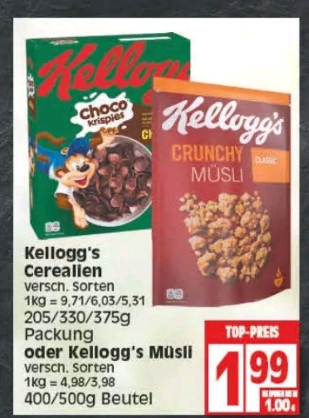 [Edeka Minden-Hannover + Rhein-Ruhr] Kellogg's Tresor oder Zimmys mit Coupon für 0,49€