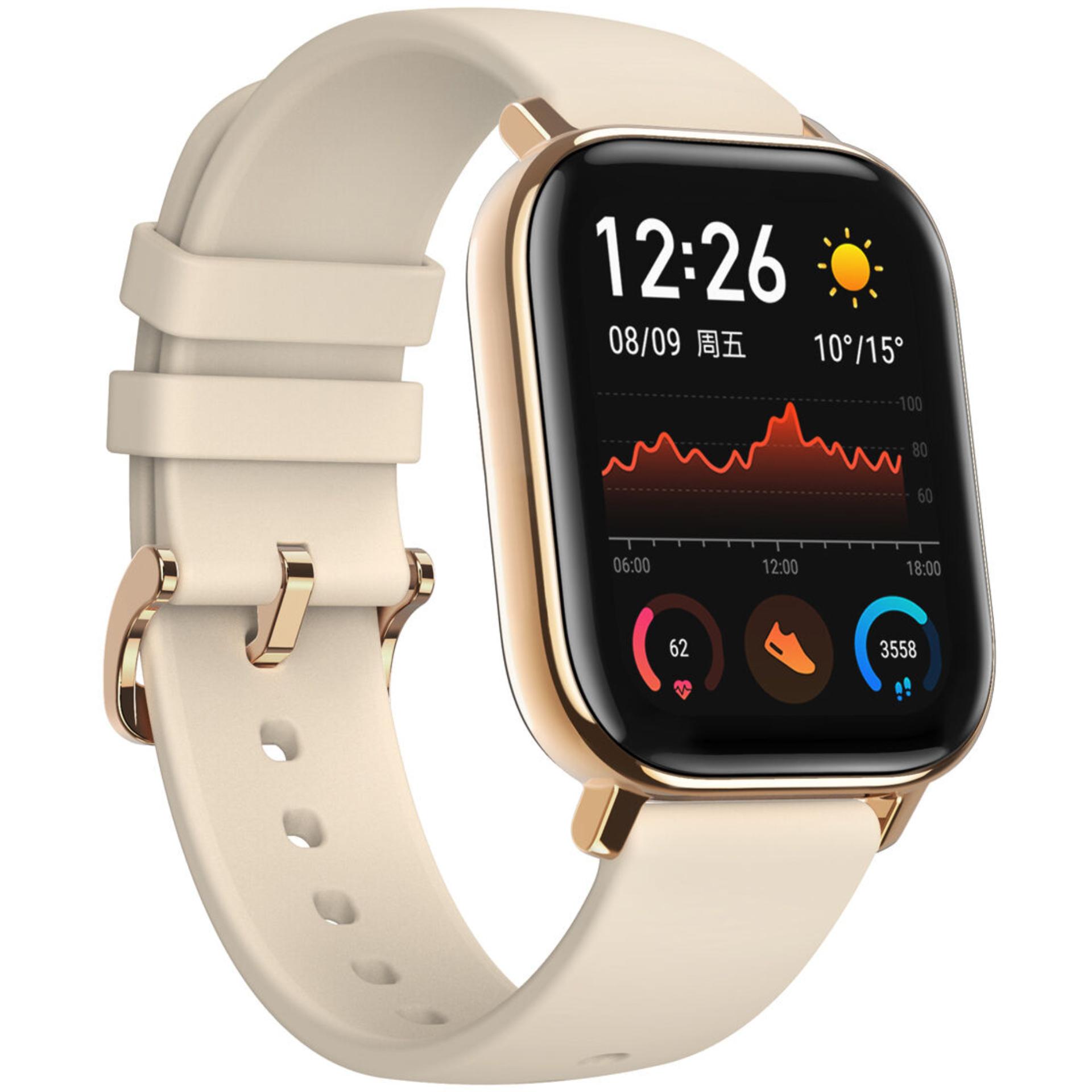 "Amazfit GTS: Smartwatch (1.65"" Amoled Display, 46 Tage Akku, GPS/Glonass, Herzfrequenzsensor, 6-Achsen-Sensor, BioTracker, 5ATM Wasserdicht)"