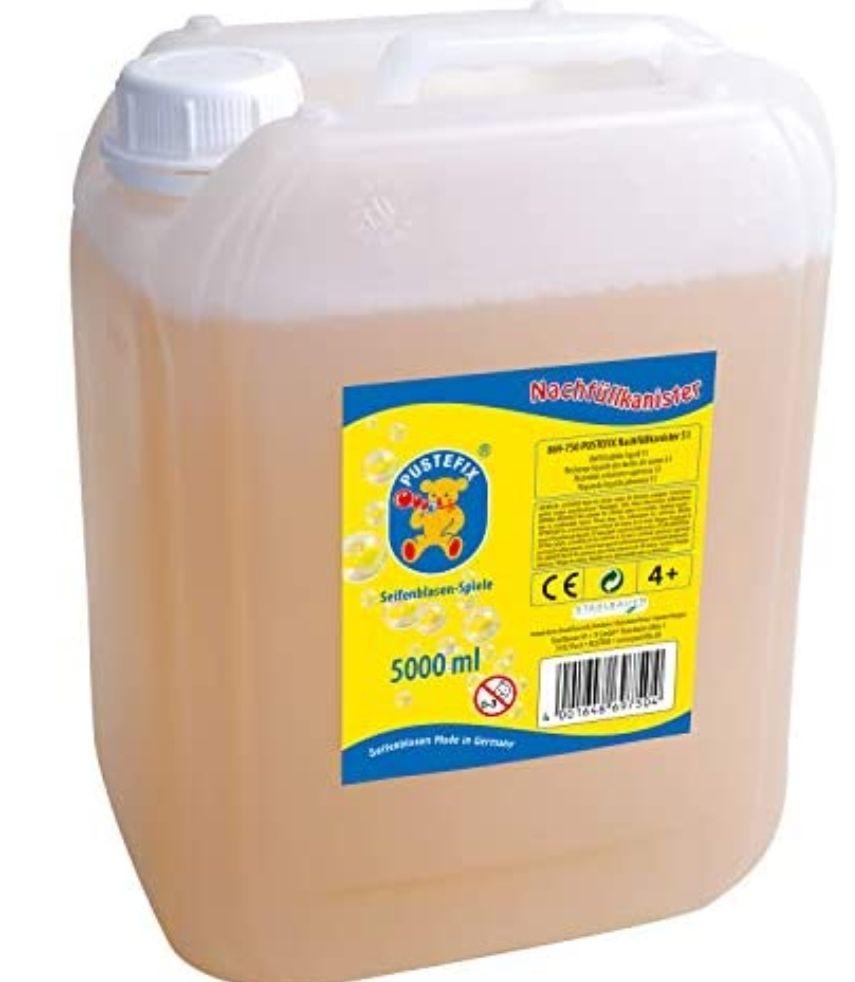 Pustefix 5 Liter Nachfüllkanister Seifenblasenflüssigkeit Bunte Bubbles 14,99 Euro (Prime) oder zzgl. 2,99 Euro Versand bei Saturn