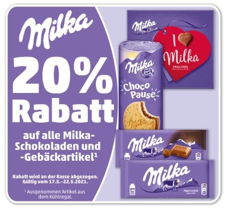 [Penny] 20% Rabatt auf alle Milka-Schokoladen und -Gebäckartikel