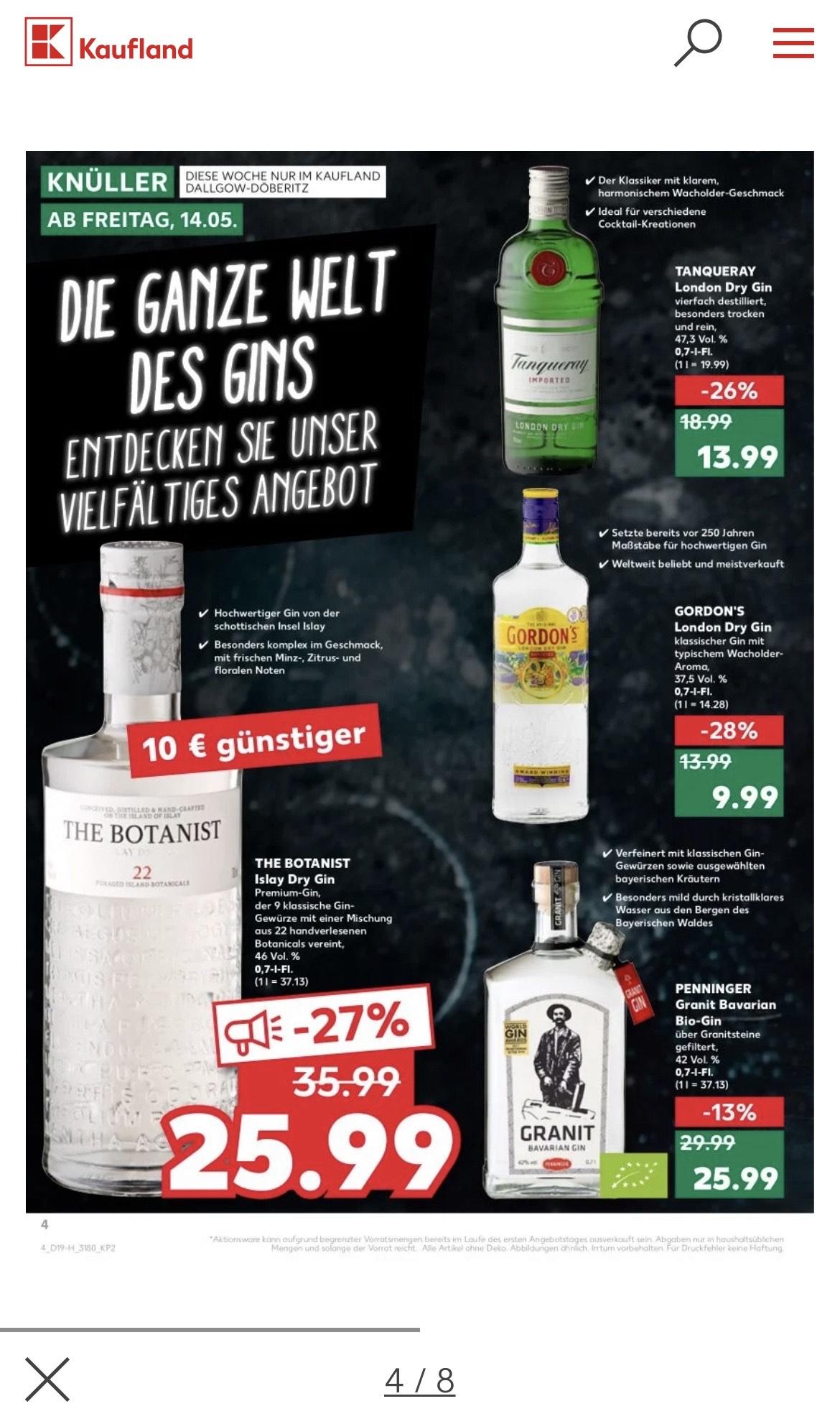 Gin-Angebote bei Kaufland (Dallgow-Döberitz)