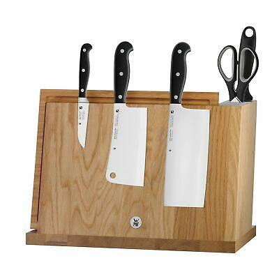 WMF Spitzenklasse Plus Block mit Messerset 7tlg, Spezialklingenstahl, Messer geschmiedet, Wetzstahl, Schere, Brett, Bambus-Block magnetisch