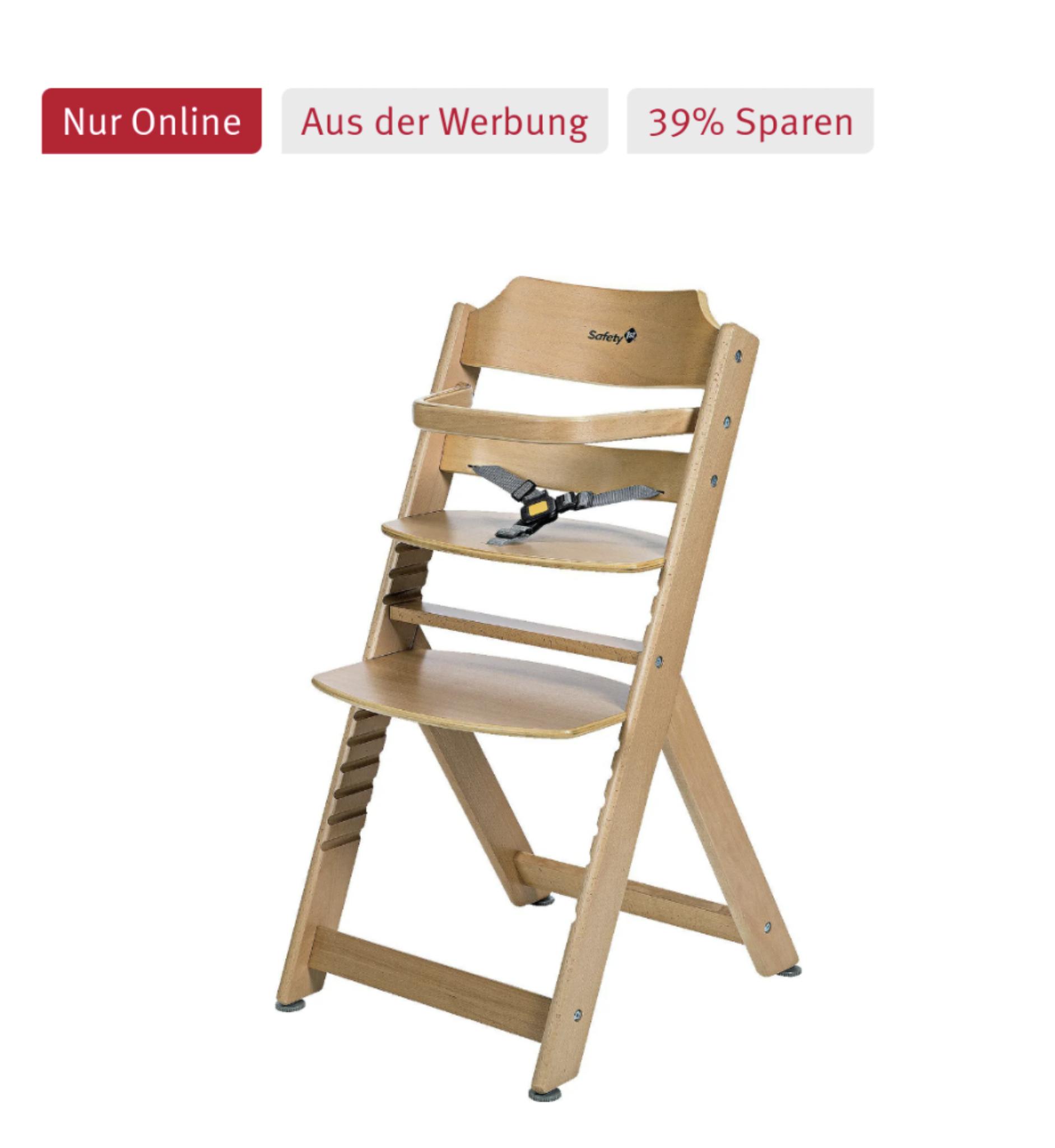 """Safety 1st Hochstuhl """"Timba Basic"""" in Weiß und Natur (6 Monate bis ca. 10 Jahre max. 30 kg)"""