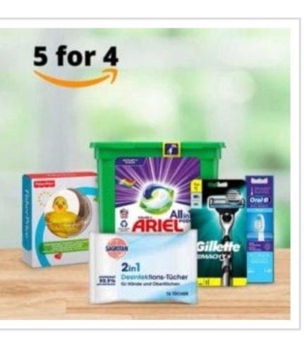 Amazon Drogerie: Nimm 5 zahl 4 Aktion ist back- mit über 1600 Produkten