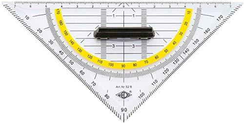 Wedo Geodreieck mit Griff - 16 cm Länge, transparent
