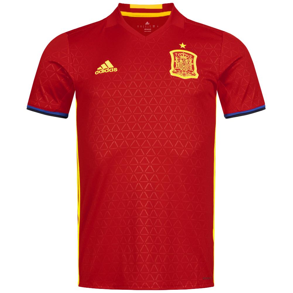 Spanien adidas Herren Heim Trikot (Größen S / XL / 3XL)