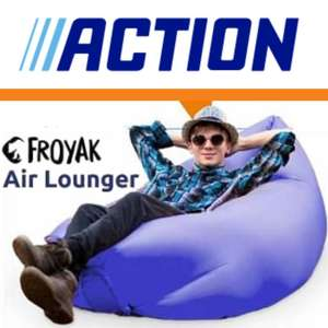 FROYAK Air Lounger by SeatZac™ (110 cm × 75 cm × 58 cm) Camping-Sofa ChillBag Luftliege