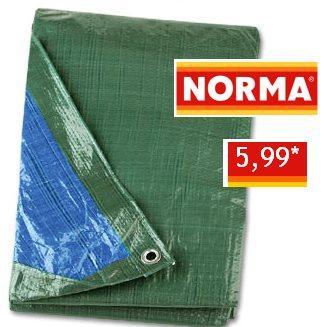 [NORMA regional] Abdeckplane 3x4m (12m²) oder Doppelpack 2x2m + 2x3m (4m² und 6m²), je 5,99 €