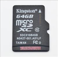 Kingston 64GB Class 10 Micro SDXC @Ebay