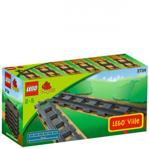 Lego™ - Duplo 6 gerade Schienen (2734) für €8,59 [@Zavvi.com]