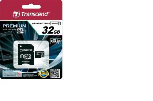 Transcend Premium microSDHC 32GB Class 10 UHS-I TS32GUSDU1 [@Amazon.de]