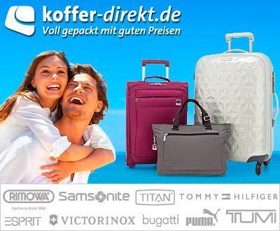 Mit 52% Rabatt & VSK-frei bei koffer-direkt.de bestellen durch Dailydeal-Gutschein