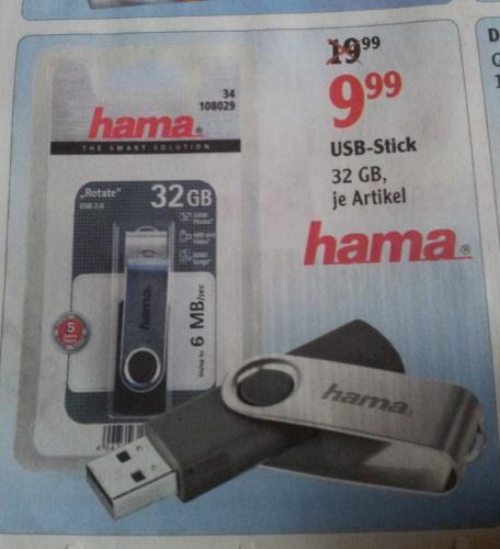 Globus. Hama Stick USB 2.0 32gb