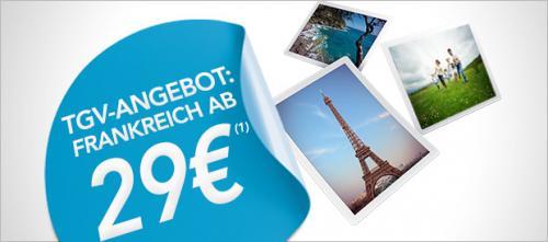 Mit dem TGV nach Paris ab 29€