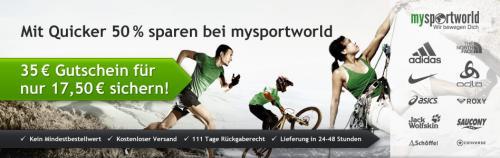 [Quicker] Mysportworld Gutschein 35€ für 17,50€