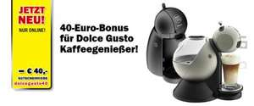 40€ Bonus auf Dolce Gusto Maschinen - Media Markt Österreich